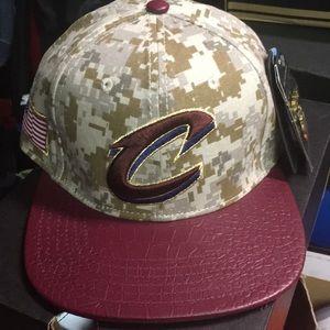 Cleveland Cavaliers camo adjustable strap back hat